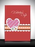 Carte de voeux, chèque-cadeau ou fond heureux de jour de Valentines. ENV Photo libre de droits
