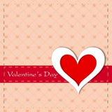 Carte de voeux, chèque-cadeau ou fond heureux de jour de Valentines. ENV Images libres de droits