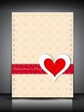 Carte de voeux, chèque-cadeau ou fond heureux de jour de Valentines. ENV Photographie stock