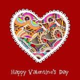 Carte de voeux, chèque-cadeau ou fond heureux de jour de Valentines. ENV Image stock
