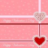 Carte de voeux - coeur des fleurs Le jour de Valentine Illustration de vecteur Photo libre de droits