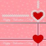 Carte de voeux - coeur des fleurs Le jour de Valentine Illustration de vecteur Images stock