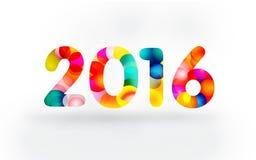 Carte de voeux 2016 colorée photos stock