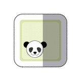 carte de voeux colorée d'autocollant avec l'animal de panda de photo Images libres de droits