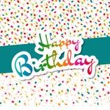 Carte de voeux colorée de joyeux anniversaire Images libres de droits