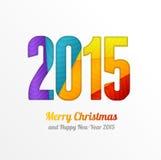 Carte de voeux colorée de la bonne année 2015 de vecteur illustration libre de droits