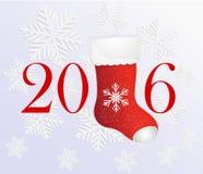 Carte de voeux créative de la bonne année 2016 avec illustration de vecteur
