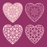 Carte de voeux décorative de Valentine avec les coeurs fleuris floraux Photos stock