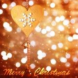 Carte de voeux d'époque de Noël Photos stock