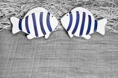 Carte de voeux d'amants de poissons Images stock