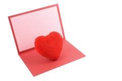 Carte de voeux d'amour Photo libre de droits