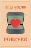 Carte de voeux d'amour Photos libres de droits