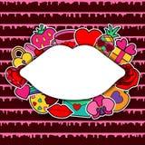 Carte de voeux d'amour Images libres de droits