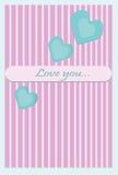 Carte de voeux d'amour Photo stock