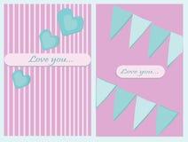 Carte de voeux d'amour Image libre de droits