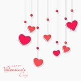 Carte de voeux d'amour pour la célébration heureuse de Saint-Valentin Images libres de droits