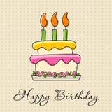 Carte de voeux d'anniversaire Image libre de droits