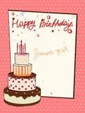 Carte de voeux d'anniversaire Photos stock
