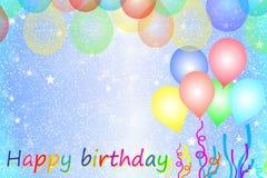 Carte de voeux d'anniversaire Photo libre de droits