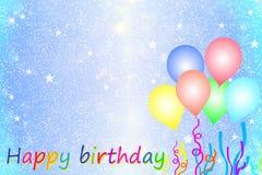 Carte de voeux d'anniversaire Images libres de droits