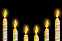 Carte de voeux d'anniversaire avec la bougie Photos libres de droits