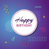 Carte de voeux d'anniversaire avec le fond abstrait Photo libre de droits