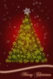 Carte de voeux d'arbre de Noël Image libre de droits