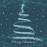 Carte de voeux d'arbre de Noël illustration libre de droits