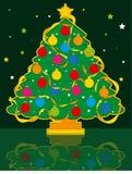 Carte de voeux d'arbre de Noël illustration stock