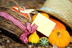 Carte de voeux d'automne Image stock