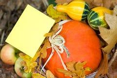Carte de voeux d'automne Photographie stock libre de droits