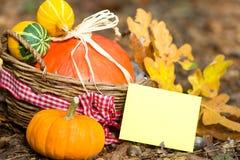 Carte de voeux d'automne Photos libres de droits