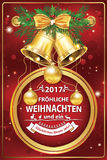 Carte de voeux d'entreprise allemande élégante pour les vacances d'hiver 2017 Images stock