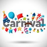 Carte de voeux d'exposition et de partie de carnaval