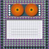 Carte de voeux d'invitation Photos libres de droits