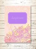 Carte de voeux d'invitation ou de calibre avec des roses Photo libre de droits