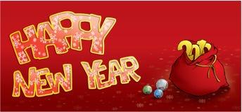 Carte de voeux d'an neuf heureux Images libres de droits
