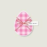 Carte de voeux d'oeuf de pâques Image stock