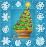 Carte de voeux décorative de Noël 3 Photos libres de droits