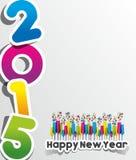 Carte de voeux 2015 de bonne année Images stock
