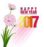 Carte de voeux de bonne année 2017 Image stock