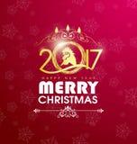 Carte de voeux de bonne année 2017 Photo stock