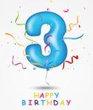 Carte de voeux de célébration de joyeux anniversaire illustration libre de droits