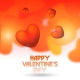 Carte de voeux de célébration de Saint-Valentin Photo libre de droits