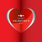 Carte de voeux de célébration de Saint-Valentin Photographie stock libre de droits