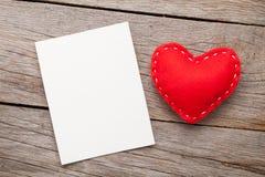 Carte de voeux de cadre ou de photo et jouet handmaded de jour de valentines il Image libre de droits