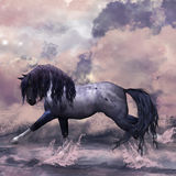 Carte de voeux de cheval d'imagination/fond Photo libre de droits