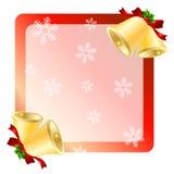 Carte de voeux de cloches de Noël Images stock