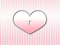 Carte de voeux de coeur de jour de valentines Photos stock