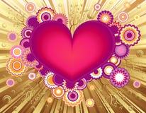 Carte de voeux de coeur du jour de Valentine Image stock
